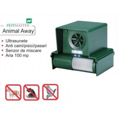 Dispozitiv mobil cu baterii impotriva cainilor si pisicilor, pasarilor, veveritelor, iepurilor - Animal Away Plus