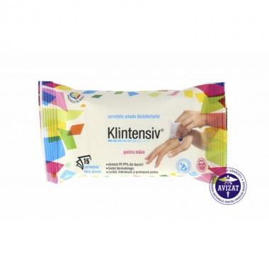 KLINTENSIV - Servetele umede dezinfectante pentru suprafete 15buc