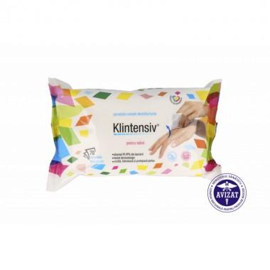 KLINTENSIV - Servetele umede dezinfectante pentru maini 70 buc