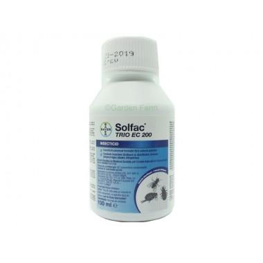 Insecticid impotriva capuselor, furnicilor, mustelor, plosnitelor, puricilor, tantarilot - Solfac TRIO EC 200, 100ml