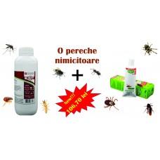 Pachet insecticid solutie Exit 25 Ec 1l si Glomax Gel, 75g.
