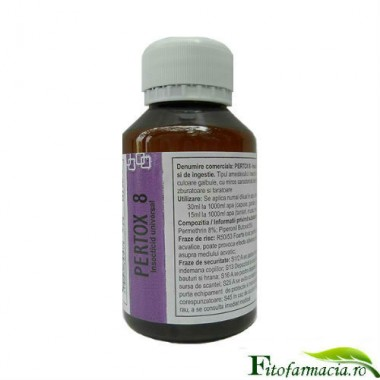 Solutie concentrata impotriva insectelor zburatoare si taratoare 140 mp - Pertox8 100 ml