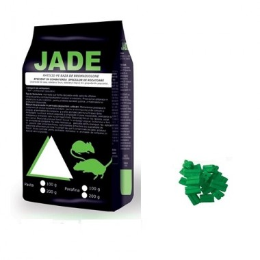 JADE Momeala raticida sub forma de parafina verde (150 gr)