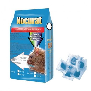 NOCURAT Momeala raticida sub forma de pasta albastra (100 gr)