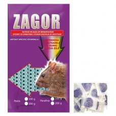 ZAGOR Momeala raticida sub forma de pasta mov (100 gr)