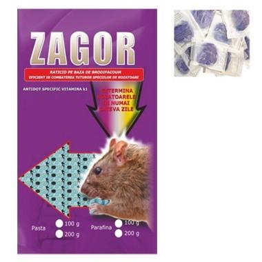 ZAGOR Momeala raticida sub forma de pasta mov (200 gr)