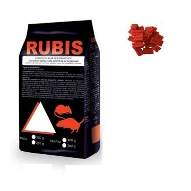 RUBIS Momeala raticida sub forma de parafina rosie (200 gr)