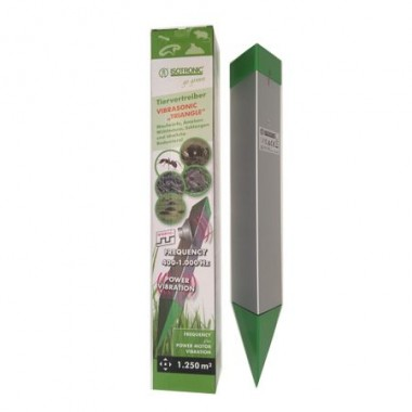 Dispozitiv cu ultrasunete si vibratii, anti cartite, furnici, reptile, rozatoare Animal Repeller Vibrasonic Triangle 70060